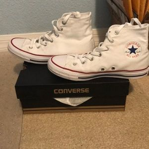 Converse Shoes - White Chuck Taylor Converse All Star High Tops